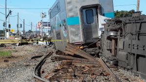 Tågolycka i Los Angeles den 24 February 2015.