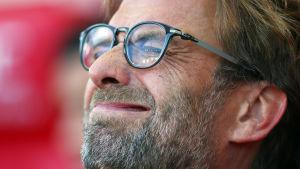 Jürgen Klopp njuter av Liverpools seger.