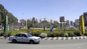 Etiopiens huvudstad Addis Abeba.