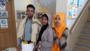 Abdullahi Abdulkadir, Adni Salad och Farhia Abdalla.