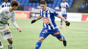 Filip Valencic har övertygat i HJK efter flytten från PS Kemi.