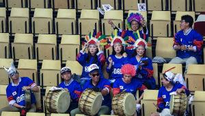 Sydkoreanerna hade supportrar på plats i Herning.