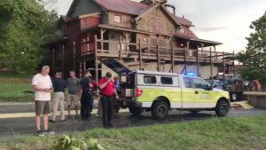 Bild från olycksplatsen i Branson.