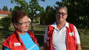 Monica Hellberg och Susanne Piekkala.