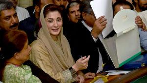 Maryam Nawaz, dotter till tidigare premiärminister i Pakistan Nawaz Sharif.