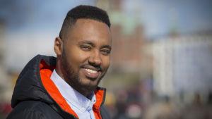 Riksdagsvalskandidat och fullmäktigeledamot i Helsingfors Suldaan Said Ahmed.
