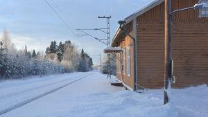 Nickby järnvägsstation.