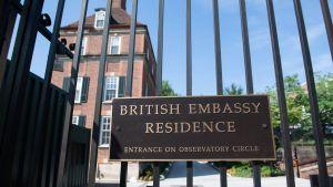 Brittiska ambassadbyggnader i Washinton fotograferade 10.7.2019.