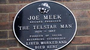 Minnesplatta för Joe Meek
