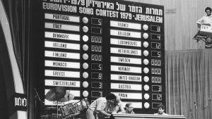 Pistetaulukko Israelin Euroviisuista vuodelta 1979.