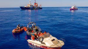 Räddningsoperation på Medelhavet utanför Libyen 22.8.2020