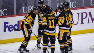 Jeff Carter var glödhet med Pittsburgh Penguins.