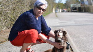 Britten Kemper och hunden Lady.