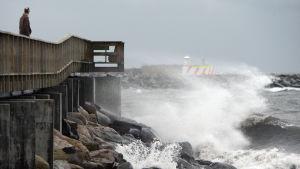 Storm utanför Ystad i Sverige i december 2013.
