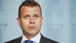 Finansminister Petteri Orpo (Saml) informerade om Finansministeriets budgetförslag vid en presskonferens den 9 augusti 2017.