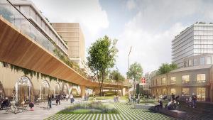 Visioner för Åbo centrum.