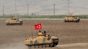 Turkiet trängde i fjol in i norra Syrien med stridsvagnar och markstyrkor som fick stöd av stridsplan