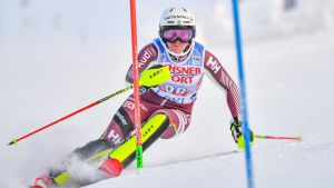 Estelle Alphand slutade på 25:e plats i slalompremiären i Levi.