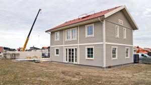 Nybyggt egnahemshus