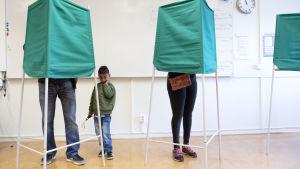 Valbås för riksdagsvalet i Sverige 2018