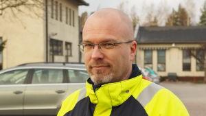 Huvudförtroendeman Daniel Hannus vid Viessmanns fabrik i Borgå.