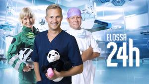 Piritta Setälä, Mikko Viitanen ja Junnu Leikola ovat Elossa 24h -ohjelman päähenkilöitä.