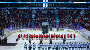 Finland firar seger i JVM.
