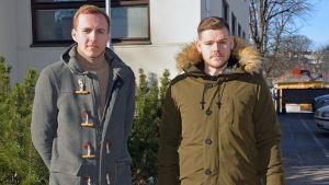 Noviastuderande Max Lindholm och Alexander Eklund.