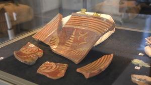 Arkeologiska fynd från Salutorget i Åbo.