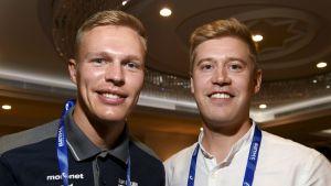 Topi Raitanen och Janne Ukonmaanaho i Doha.