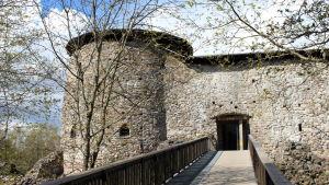 ingång till medeltida slott