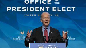 Joe Biden talar om sitt kommande presidentskap 8.1.2021