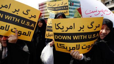 Iran svarar med egna sanktioner mot usa