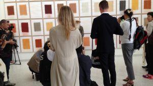 Holländska konstnären Herman de Vries verk väckte förtjusning