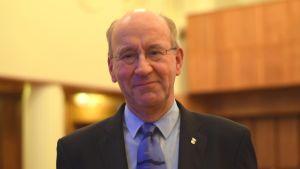 Hangös stadsfullmäktigeordförande Sture Söderholm