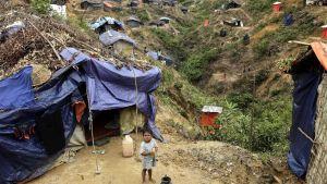 Ett flyktingläger för rohingyaflyktingar i Bangaldesh
