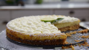 Leftover Key lime pie på ett fat