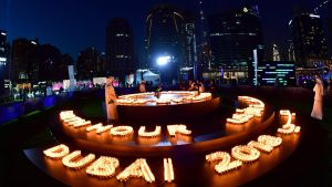 Earth Hour i Dubai 2018.
