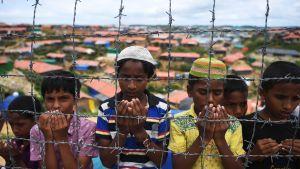 Flyktingar från Myanmar i flyktingläger i Bangladesh