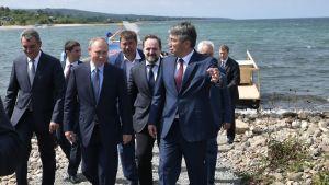 President Putin under ett besök vid Bajkalsjön