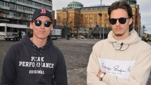 Två studerande i Vasa.
