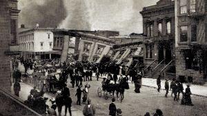 Jordbävningen i San Francisco 1906.