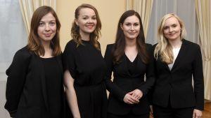 Li Andersson, Katri Kulmuni, Sanna Marin och Maria Ohisalo.