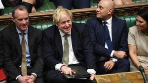 Storbritanniens premiärminister Boris Johnson i parlamentet.