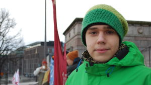 Klimatdemonstranten Atte Ahokas.