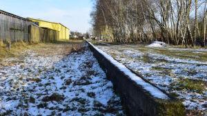 Den forna perrongen i Lockstedter Lager