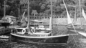 Daphne i Portofinos hamn år 1960.