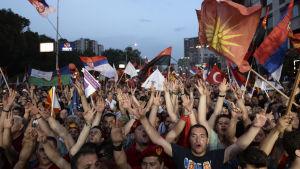 Demonstration i Skopje.