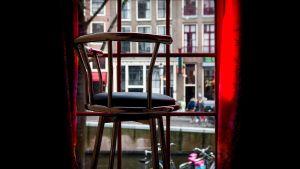 Fönster för prostituerad i Amsterdam
