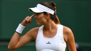 Garbine Muguruza fick slita i den första omgången av Wimbledon.